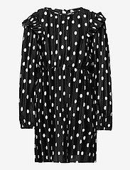 KONELEMA L/S FRILL DRESS JRS - BLACK
