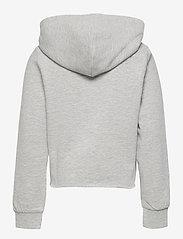 Kids Only - KONKAMILLA L/S SHORT HOOD SWT - kapuzenpullover - light grey melange - 1