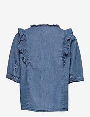 Kids Only - KONPEMA DNM SS  FRILL SHIRT - hemden - medium blue denim - 1