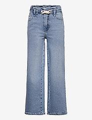 Kids Only - KONMIE WIDE PAPERBAG DNM JEANS - jeans - medium blue denim - 0