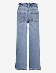 Kids Only - KONMIE WIDE PAPERBAG DNM JEANS - jeans - medium blue denim - 1