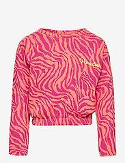 Kids Only - KONENSLEY LIFE L/S SHORT O-NECK SWT - sweatshirts - beetroot purple - 0