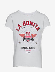 KONLUCY LIFE S/S BONITA/SENORITA TOP JRS - BRIGHT WHITE