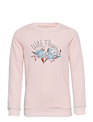 konJOYCE L/S O-NECK OK SWT - ROSE QUARTZ