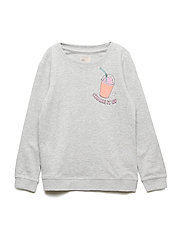 konSOUND L/S O-NECK OK SWT - LIGHT GREY MELANGE