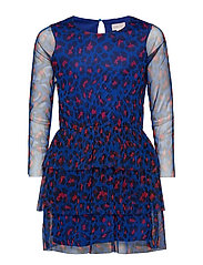 konMARY L/S ABOVE KNEE DRESS WVN - PRINCESS BLUE