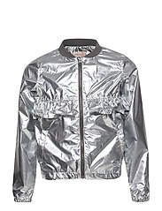 konSARA SPACE FRILL JACKET - SILVER