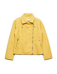 konCARLA FAUX LEATHER BIKER OTW - YOLK YELLOW