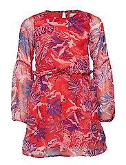 konISABELLA LS DRESS WVN - BITTERSWEET