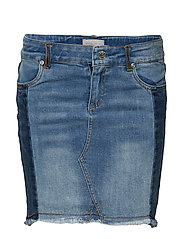konSKY REG SKIRT - MEDIUM BLUE DENIM