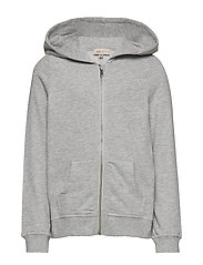 KONBEAT L/S HOOD NOOS - LIGHT GREY MELANGE