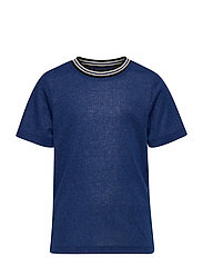 KONSILVERY S/S RIB TOP JRS - ROYAL BLUE