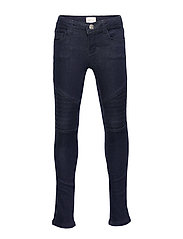 KONJAY BIKER JEANS DB - DARK BLUE DENIM