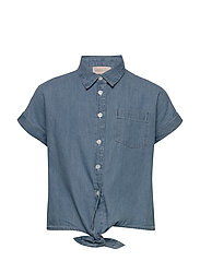 KONRONJA KNOT DNM SHIRT LB - MEDIUM BLUE DENIM