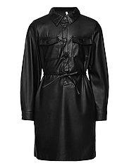 KONBIRDIE PU BELT DRESS PNT - BLACK