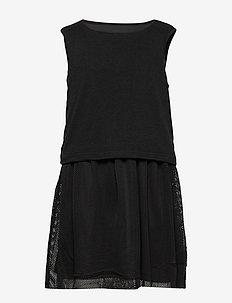 KONKAYA MESH DRESS - BLACK
