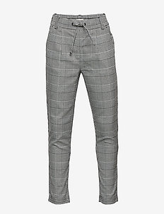 KONPOPTRASH SOFT CHECK PANT NOOS - kleidung - medium grey melange