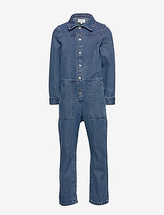 KONFIE DENIM WORKER JUMPSUIT - MEDIUM BLUE DENIM