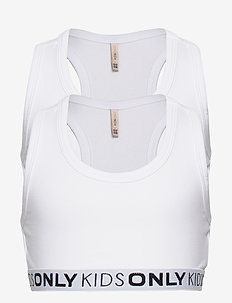 KONLOVE LIFE S/L SPORT TOP 2PACK NOOS - tops - bright white