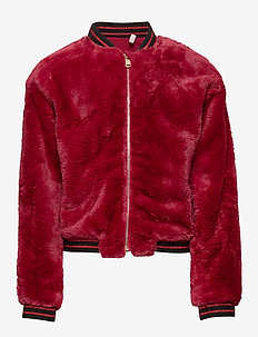 KONJOSEPHINE L/S ZIP JACKET SWT - RIO RED