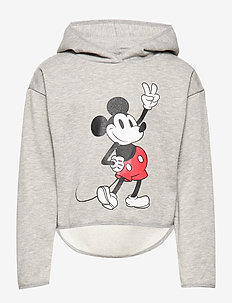 KONMICKEY L/S TOP BOX SWT - LIGHT GREY MELANGE