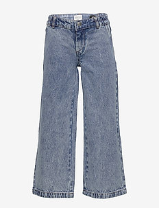 KONLISA WIDE CROPPED ACID JEANS - MEDIUM BLUE DENIM