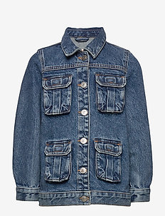 KONPATRICIA CARGO MD BLU DNM JACKET - MEDIUM BLUE DENIM