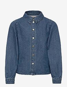 KONROCCO  LS DNM SHIRT - koszule - medium blue denim