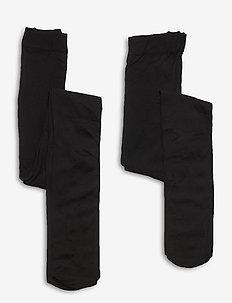 KONSAGA 2-PACK 60 DEN TIGHTS - strømpebukser - black