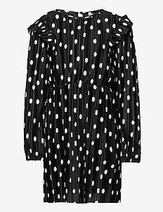 KONELEMA L/S FRILL DRESS JRS - kleider - black