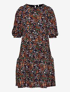 KONPELLA 3/4 PELUM DRESS JRS - kleider - black