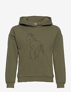 KONJUANA HORSE/COWGIRL BOX HOOD CS  SWT - kapuzenpullover - kalamata
