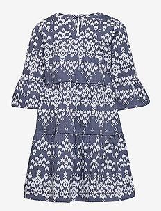 KONALEXIA LIFE 3/4 BELL DRESS WVN - kleider - vintage indigo