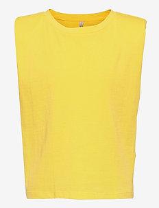 KONJEN LIFE S/L SHOULDER TOP JRS - t-shirts - aurora