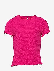 KONDELI LIFE S/S SMOCK TOP JRS - t-shirts - beetroot purple
