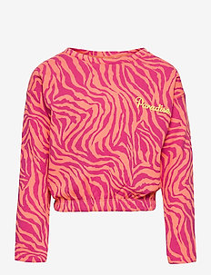 KONENSLEY LIFE L/S SHORT O-NECK SWT - sweatshirts - beetroot purple