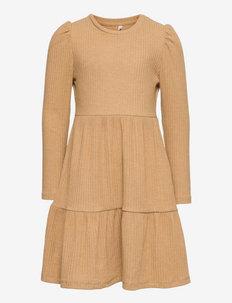 KONNELLA L/S PUFF DRESS JRS - kleider - tannin