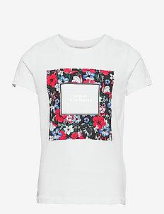 KONDORITA LIFE FIT S/S FLOWER TOP JRS - korte mouwen - bright white