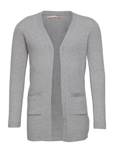 KONLESLY L/S OPEN CARDIGAN KNT - gilets - light grey melange