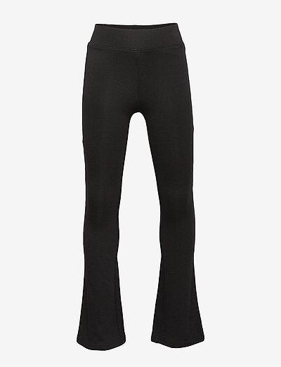 KONPAIGE FLARED PANT PNT NOOS - kleidung - black