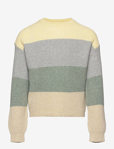 KONSANDY L/S STRIPE PULLOVER CP KNT - pullover - mellow yellow