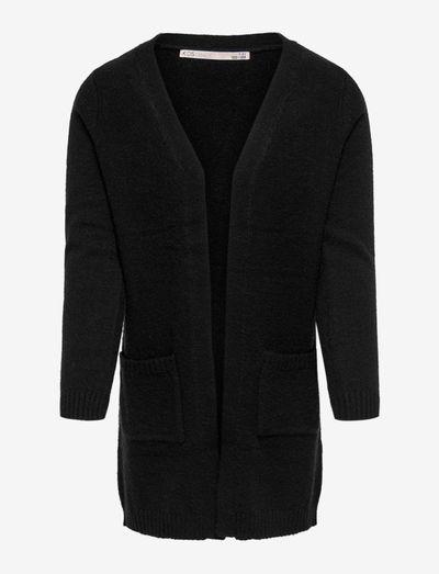 KONLESLY L/S OPEN CARDIGAN KNT - cardigans - black