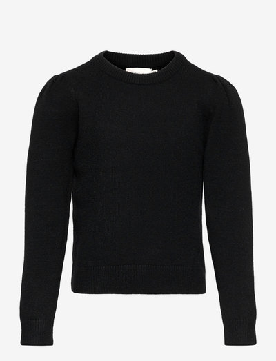 KONLESLY L/S PUFF PULLOVER CP KNT - pullover - black