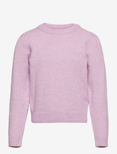 KONLESLY L/S PUFF PULLOVER CP KNT - pullover - crocus petal