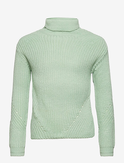 KONRILEY L/S ROLLNECK PULLOVER KNT - pullover - frosty green