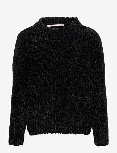 KONSHILLA L/S PULLOVER CP KNT - pullover - black