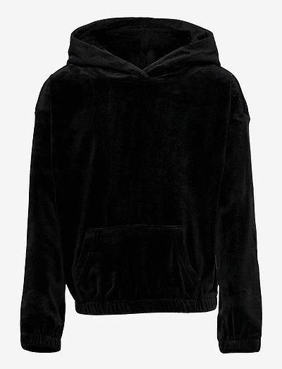 KONLAYA L/S HOOD SWT - kapuzenpullover - black