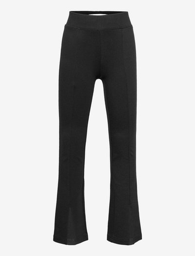 KONPAIGE FLARED SLIT PANT PNT - hosen - black