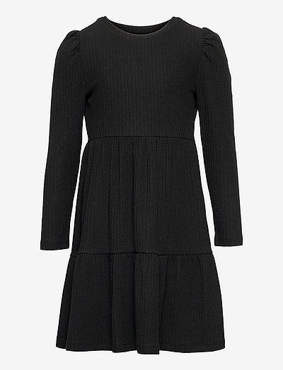 KONNELLA L/S PUFF DRESS JRS - kleider - black