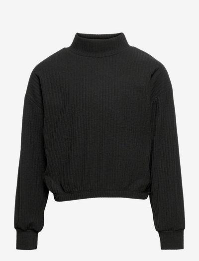 KONNELLA L/S HIGHNECK TOP JRS - langärmelige - black